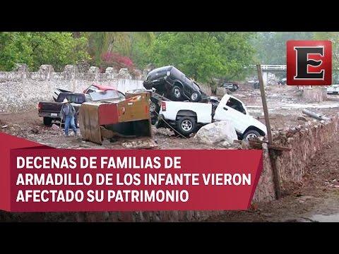 Tromba en San Luis Potosí deja 4 muertos y varios desaparecidos