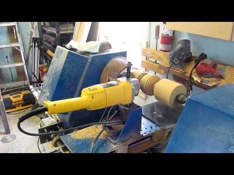 Tour à bois numérique, cnc homemade wood lathe  YouTube
