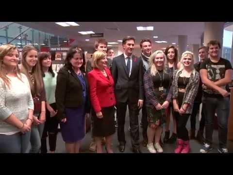 Ed Miliband visits Northampton College