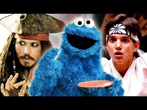 National Film Society - Cookie Monster shares his love of movies and shows clips from his new parodies of The Karate Kid and Pirates of the Caribbean! #CookieMonster Watch