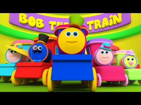 Bob Kereta Jari Keluarga | sajak anak | 3D Song for Kids | Kids Rhymes | Bob Train Finger Family