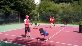 Archery tag en pleine action