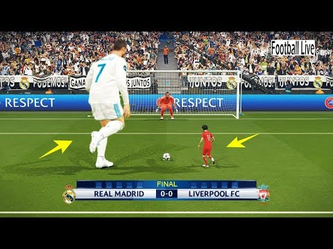 PES 2018 | GIANT players Real Madrid vs TINY players Liverpool | Penalty Shootout | Final UCL