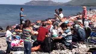 Lesvos Greece  City pictures : REFUGEES FROM SYRIA TO ISLAND OF LESVOS GREECE part2