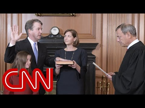 See The Moment Brett Kavanaugh Is Sworn In