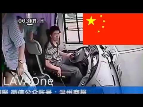 Опасная авария грузовика в Китае / видео