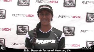 2021 Deborah Torres Catcher Softball Skills Video - Easton Preps