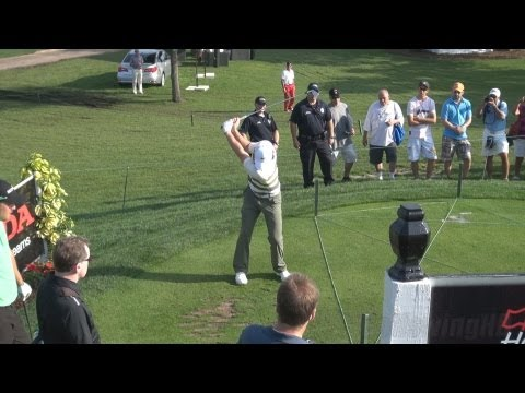 GOLF SWING 2013 – RORY MCILROY IRON – FACE ON ELEVATED & SLOW MOTION – 1080p HD