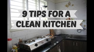 9 HABITS TO KEEP A CLEAN KITCHEN   Ranju N