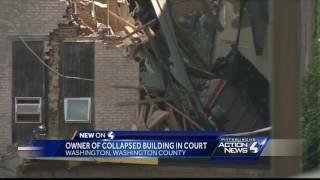 Owner of collapsed building in courtSubscribe to WTAE on YouTube now for more: http://bit.ly/1emyOjPGet more Pittsburgh news: http://www.wtae.com/Like us: http://www.facebook.com/wtae4Follow us: http://twitter.com/WTAEGoogle+: http://plus.google.com/+wtae