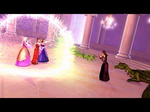 Barbie & The Diamond Castle - Liana, Alexa & Melody defeat Lydia