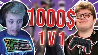 I bet $1000 on a 1v1 against Aydan | Best fortnite console player ...