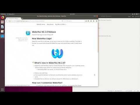 How to install Waterfox Browser on Ubuntu 18.04