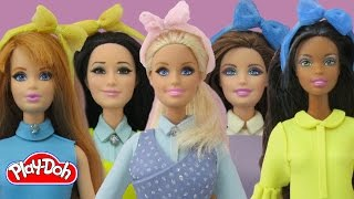 Play Doh Barbie Dolls Meghan Trainor - All About That Bass Inspired Costume Play-Doh Craft N Toys
