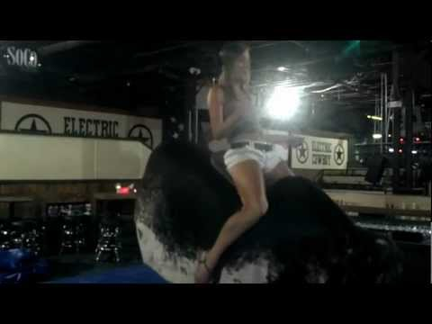 Sexy Mechanical Bull Ride At Kennesaw's Electric Cowboy from GeorgiaBullRental.com