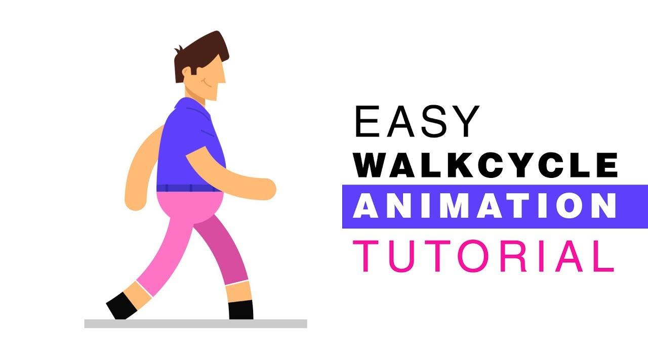 easy 2d walk cycle animation tutorial