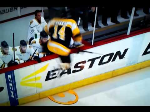 NHL 14: Strange player stuck in the board Glitch