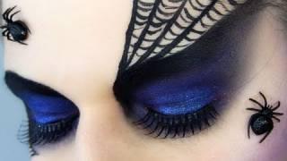 Spider Black Widow Halloween Makeup