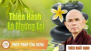 Thiền Hành Là Ngừng Lại - Thiền Sư Thích Nhất Hạnh