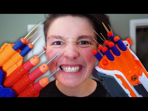 Video MOST DANGEROUS TOY OF ALL TIME!!! *BLOOD WARNING* (EXTREME NERF GUN CHALLENGE) download in MP3, 3GP, MP4, WEBM, AVI, FLV January 2017