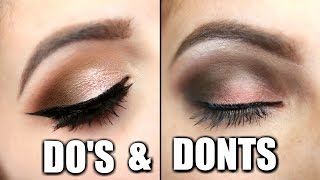 Hi Larlee's here is a Eyeshadow Do's and Dont's video. I hope it helps you with your questions on eyeshadow. I wanted the focus ...