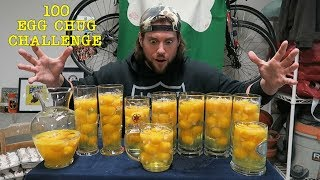 """Watch The Iron Stomach Gauntlet Challenge Goes Wrong Here:https://www.youtube.com/watch?v=sxRzGmYg_J8   Within the past month, it has been brought to the L.A. BEAST'S attention that an unnamed Chinese Live Streamer has quickly taken over the title of """"Egg King"""" by chugging down 50 raw eggs in 15 seconds & then following that up by downing 100 eggs in less than a minute. Inspired to attempt to drink 100 raw eggs himself, The L.A. BEAST did some calculations and figured out that 100 cracked raw eggs weighs roughly 195 ounces. That's the equivalent of chugging down an entire gallon of water and then drinking a 64 oz Gatorade on top of that.....but substituting that liquid with floating yellow egg balls and egg white juice. With no training and sheer determination, will the L.A. BEAST be able to take back the Crown of Egg King?   After watching this Unnamed Chinese Live Streaming Egg Master perform his magic, the L.A. BEAST has nothing but absolute respect and wishes this man continued success. If anyone knows this man's name, let me know. He is a legend and deserves credit for his accomplishments.Please sit back, relax and enjoy!!Please Subscribe for More L.A. BEAST Antics:https://www.youtube.com/user/skippy62able   BRAND NEW L.A. BEAST T-SHIRTS & HOODIES!!!https://thrilled.com/brands/labeastNEW!!! Get your L.A. BEAST """"Have A Good Day"""" Sticker here:http://mkstk.co/labeastFollow My Daily Vlogs.... I swear A Lot. They are Funny. That is all.https://www.youtube.com/channel/UCrfgIZx8kunMJdu0OZupgFA  Download """"The Crystal Pepsi Song"""" by clicking link below:https://itunes.apple.com/us/album/crystal-pepsi-song-feat.-thats/id1024817772?i=1024817779&ign-mpt=uo%3D4T-SHIRTS: http://labeast.spreadshirt.com/?nocache=trueSNAPCHAT. LABEAST62INSTAGRAM: http://www.instagram.com/labeast62/#TWITTER: https://twitter.com/#!/KevLAbeastFACEBOOK: https://www.facebook.com/pages/La-Beast/234004536649803?bookmark_t=pageWEBSITE: http://www.labeast.comMUSIC IN THIS VIDEO IS ROYALTY FREE MUSIC AND """
