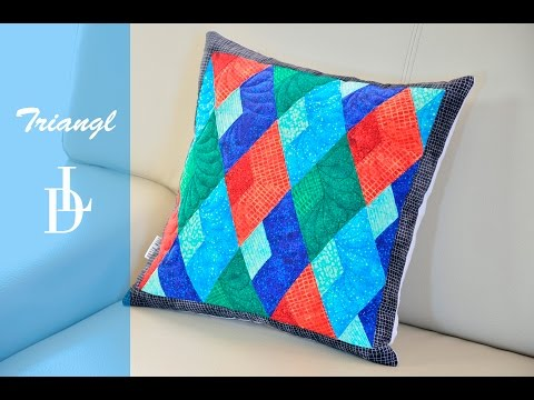 patchwork - how to make a pillow with the triangles
