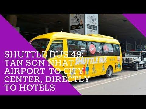 Tan Son Nhat International Airport - Public Transportation bus to city center: Review Shuttle bus 49
