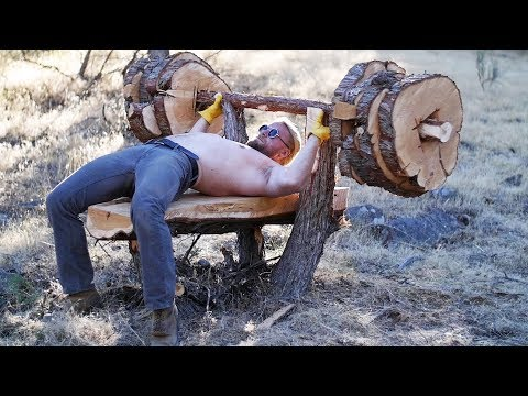 Building a Bench Press from a Tree