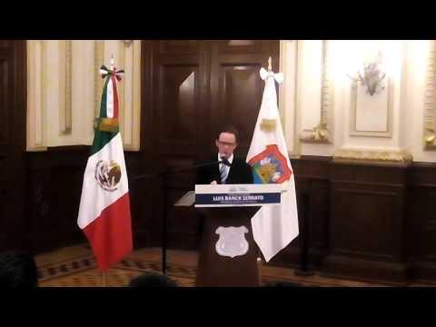 Palabras de Luis Banck Nuevo Edil de Puebla