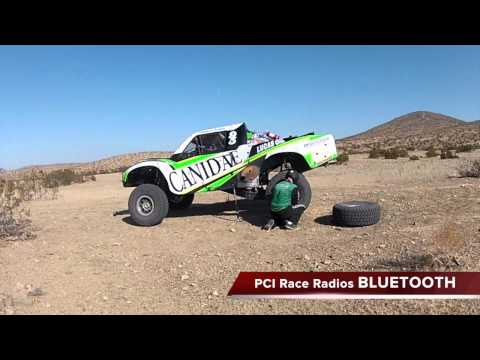 bluetooth communications - Canidae Racing Trophy Truck #95 tests and demonstrates the new PCI Race Radios Bluetooth Helmet. Unplug from the intercom, the Bluetooth installed in the hel...
