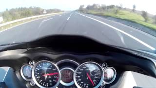 2. Hayabusa top speed 300+ km/h rev limiter @11k on 6th gear