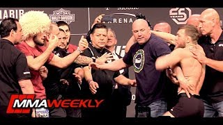 Video UFC 229 Khabib vs Conor McGregor Ceremonial Weigh-In Comes to Blows MP3, 3GP, MP4, WEBM, AVI, FLV Desember 2018