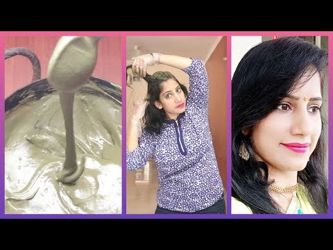 Hair color - Henna Indigo Hair Dye  #safedbalokokalakarnekenuskhe  मेहँदी इंडिगो कैसे लगाए White Hair to Black