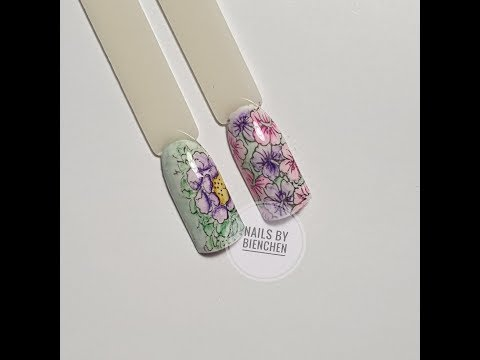 Nageldesign - Mit den Watercolors stempeln Variante 2
