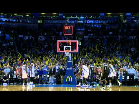 Thunder - Joe Johnson hit a tough fadeaway jumper from the top of the key at the buzzer to beat the Oklahoma City Thunder. If this is your favorite,