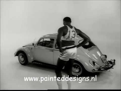 NBA Star Wilt Chamberlain In A 1966 Volkswagen Commercial