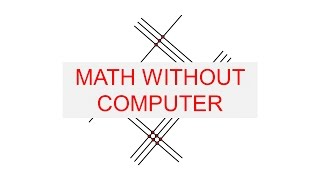 Do Math Without computer