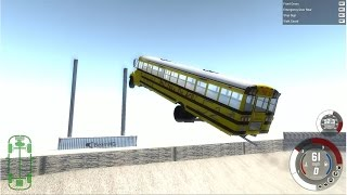 BeamNG.Drive 700HP School Bus JUMP and DRIFT