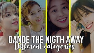 TWICE DANCE THE NIGTH AWAY RANKING IN DIFFERENTS CATEGORIES