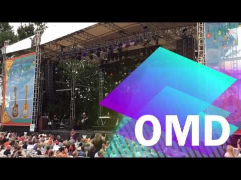 Howard Jones and OMD at Edgefield in Troutdale, OR July 17, 2016 (видео)