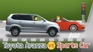 Video Kartun Lucu - Toyota Avanza vs Sports Car   Cerita Cinta Indonesia - Rizky Riplay MP3, 3GP, MP4, WEBM, AVI, FLV September 2018
