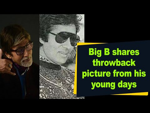 Big B shares throwback picture from his young days