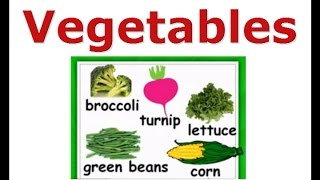 Vegetables names vocabulary lesson, English for kids
