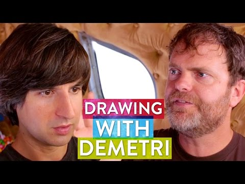 Demetri Martin & Rainn Wilson Draw their Soul - Metaphysical Milkshake