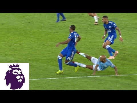 Video: Fabian Delph given red card for dangerous tackle v. Leicester City | Premier League | NBC Sports