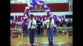 AFJROTC Rifle Demo - 1995 Homecoming Pep Rally