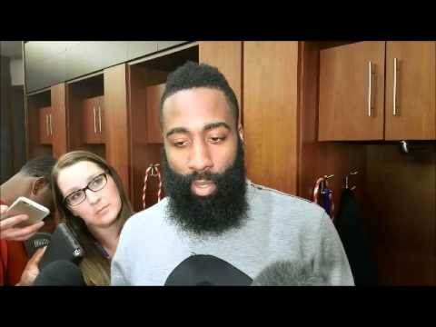 James Harden after going for 33 points, 8 assists vs. Wolves