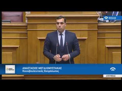 Α.Μεγαλομύστακας(Κοινοβ.Εκπρόσ.ΕΝΩΣΗ ΚΕΝΤΡΩΩΝ)(Ψήφος εμπιστοσύνης στην Κυβέρνηση)(16/01/2019)