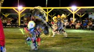 crow creek powwow 2010 men's fancy sunday pm standing horse singers
